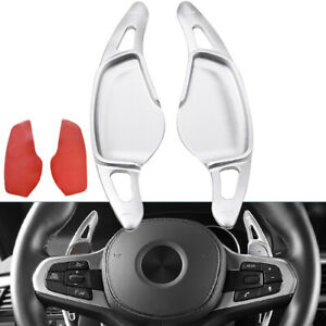 Aluminum Steering Wheel Shift Paddle Extension Silver For 19 20 G20 M340i 330i