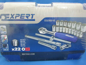 Expert By Mac Tools 22 pc Set 1 2 Dr Metric 6 pt e032900 us W case 123941a