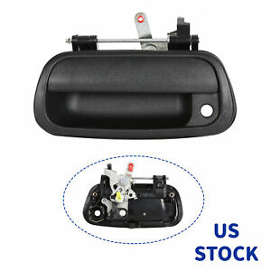 Black Textured Tail Gate Tailgate Handle For 2000 06 Toyota Tundra Pickup Truck