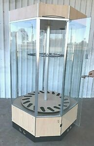 Awesome Rotating Lighted 18 Gun Showcase Display Case Cabinet