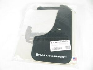 Rally Armor Ur Mud Flaps Black W White Logo For 08 11 Subaru Impreza Wrx