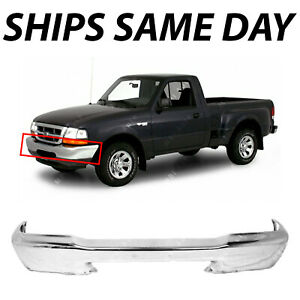 New Chrome Steel Front Bumper Face Bar For 1998 1999 2000 Ford Ranger 98 99 00