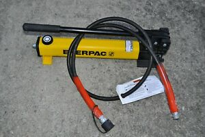 Enerpac P392 Hydraulic Hand Pump 700 Bar 10 000 Psi W 6 Spx Hose Usa Made
