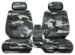 Car Seat Covers Urban Camo Gray Fits Toyota Tacoma 01 2004 Front Bench 60 40 2hr