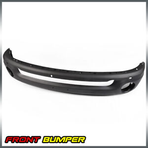 Black For 2002 2008 Dodge Ram 1500 2500 Front Bumper W Round Fog Light Holes