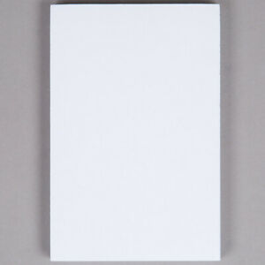 Netko White Plain Notepads 100 Sheets Blank Memo writing Pads 4 X 6 2 Pack
