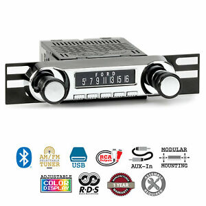 Retrosound 1967 1977 Ford Bronco Huntington Direct Fit Radio Am Fm Bluetooth Usb