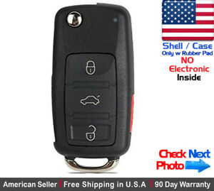 1x New Replacement Remote Key Fob Flip Case For Audi Shell Only