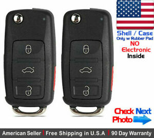 2x New Replacement Remote Key Fob Flip Case For Audi Shell Only