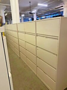 Lot Of 5 5 drawer Lateral Size File Cabinets By Steelcase W lock