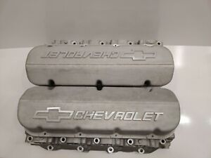 Gm Racing 14011004 Big Block Chevy Bowtie Aluminum Cylinder Heads Valve Covers