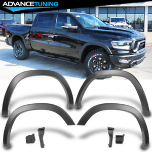 Fits 19 21 Dodge Ram 1500 Oe Style Smooth Matte Black Fender Flares 4pcs