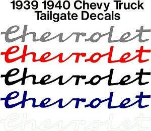 1939 1940 Chevrolet Tailgate Tail Gate Decal Sticker