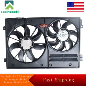 Radiator Cooling Fan For Audi A3 Tt Quattro Volkswagen Jetta Passat Beetle Golf
