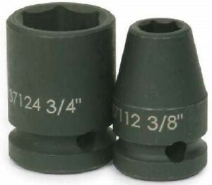 1 2 Drive Shallow Impact Sockets 6 Point Sae Black Industrial Finish Williams