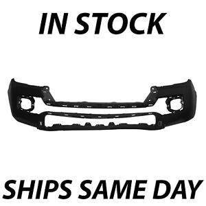 New Textured Black Front Bumper Cover Fascia For 2016 2020 Toyota Tacoma Sr