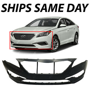 New Primered Front Bumper Cover For 2015 2016 2017 Hyundai Sonata Se Standard