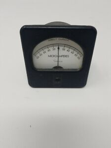 Vintage Simpson Electrical Panel Meter Gauge Microamperes Dc 0 100
