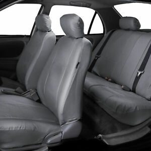 Car Seat Covers Pu Leather Gray With Free Air Freshener