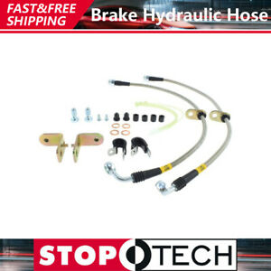 Front Stainless Steel Braided Brake Lines Brake Hoses For 2005 2013 Ford Mustang