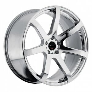 Set Of 22 Staggered Giovanna Andros Chrome Wheels For Bentley Continental
