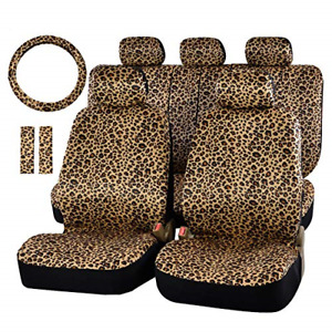 Audel Zebra Car Seat Cover Set With 2 Seat Belt Pads Universal 15 Inch Wheel
