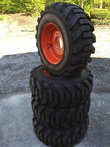 4 New 12 16 5 Foam Filled Galaxy Beefy Baby Iii Tires Rims For Bobcat 12x16 5
