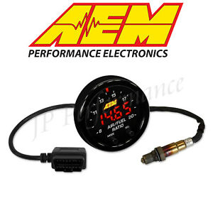Aem X Series Obdii Wideband Air Fuel Sensor Controller Gauge A F Ratio Uego