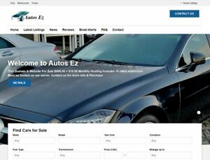 Premium Domain Name Autosez com Available With Car Dealer Site On Our Hosting