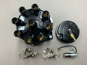 1962 Chevrolet 409 2 Window Distributor Cap Hd Rotor 2 Sets Points Condenser