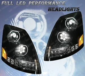 Qsc Full Led Performance Black Headlights Sequential Turn Signal Volvo Vnl 04 17