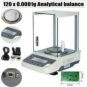 120 X 0 0001 G 0 1 Mg Lab Scale Analytical Balance Precision Scale Free Ship