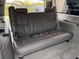 2000 2006 Suburban Yukon Xl 3rd Third Row Bench Seat Leather Pewter