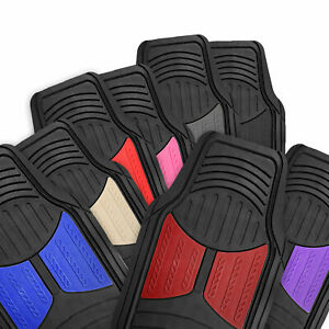 2 Tone Floor Mats For Car Suv Van All Weather Universal Fitment 8 Colors