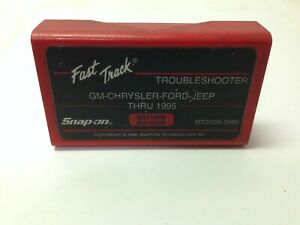 Snap on Fast Track Troubleshooter Gm Chrysler Ford Jeep Thru 1999 Mt25002999