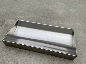 Cash Window Money Tray 16 l X 8 w X 2 1 8 High Stainless Steel Used As Shown