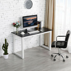 Computer Desk Pc Laptop Study Writing Table Workstation Home Office Black