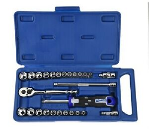 27 Piece 1 4 Drive Socket And Drive Tool Set 6 Point Williams 50661a