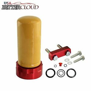 For 2001 2016 Chevy Duramax 6 6l Diesel Cat Fuel Filter Adapter And Seal Kit