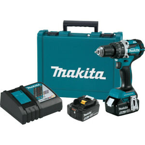 Makita18v Lxt Compact Brushless Cordless Hammer Driver drill Kit Xph12t New