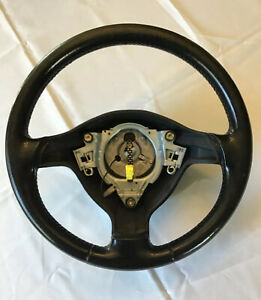 Used Oem Vw Mk3 Cabrio 3 Spoke Black Leather Steering Wheel Golf Gti 93 99 Mk3 5