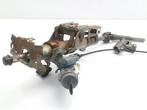 2003 Toyota Corolla Steering Column And Lock Cylinder With Key Oem 45250 02410