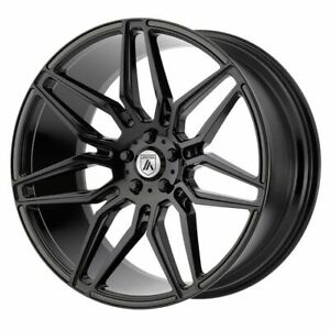 Package 4 20x9 Asanti Black Sirius Et 15 Black 5x115 Wheels Rims
