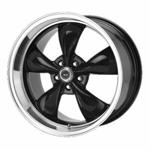 Four 4 18x9 American Racing Torq Thrust M Et 34 Black Machine 5x120 Wheels