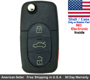 1x New Replacement Remote Key Fob Flip For Audi Shell Case Only