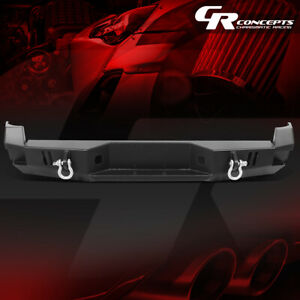 Powdercoated Steel Rear Step Bumper W d rings hardware For 05 15 Toyota Tacoma