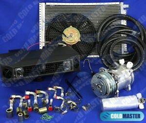 A C Kit Universal Underdash Evaporator 404v Heat Cool With Electrical Harness