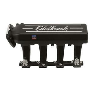 Edelbrock Intake Manifold 71393 Black Powdercoat Aluminum For Chevy Ls series
