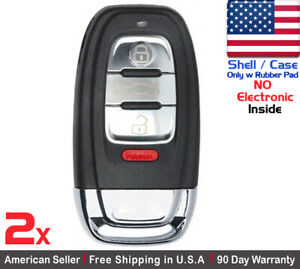 2x New Replacement Remote Key Fob Flip For Audi shell Only