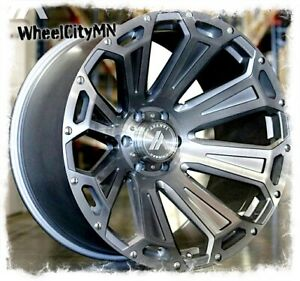 22 X10 Brushed Titianium Asanti Ab 813 Cleaver Wheels Ford F150 Raptor 6x135